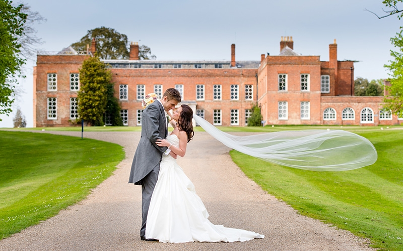 A happy couple just married at Braxted Park in Essex | CHWV