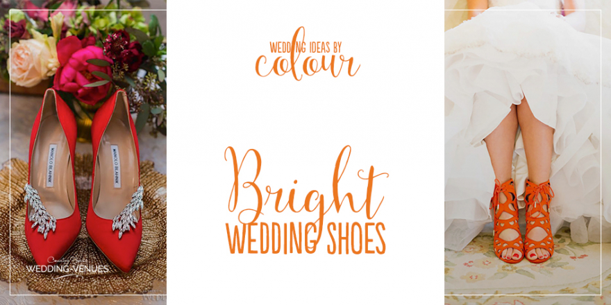 Wedding Ideas By Colour: Bright Wedding Shoes | CHWV