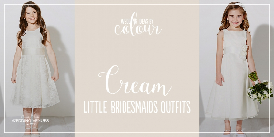Wedding Ideas by Colour: Cream Little Bridesmaid Dresses | CHWV