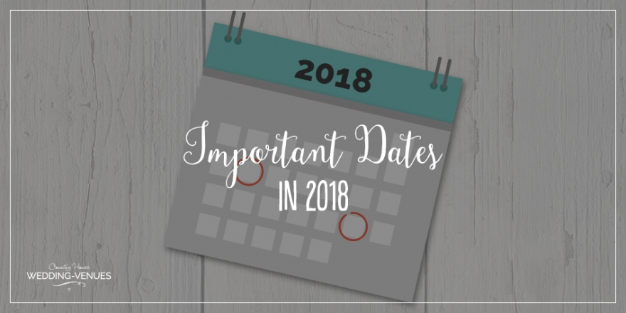 Important Dates In 2018 | CHWV