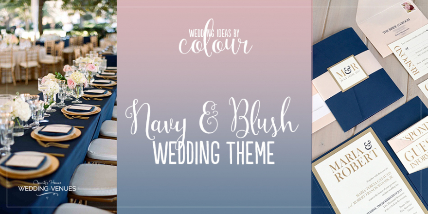 Wedding Ideas By Colour: Navy and Blush Wedding Theme | CHWV