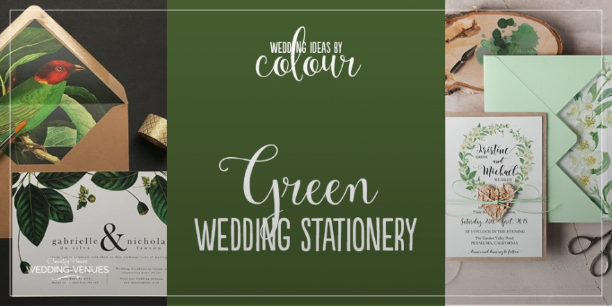Wedding Ideas By Colour: Green Wedding Stationery | CHWV