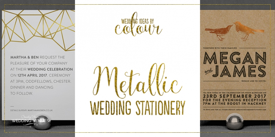 Wedding Ideas By Colour: Metallic Wedding Stationery | CHWV