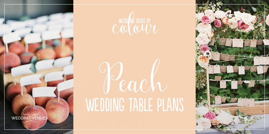 Wedding Ideas by Colour: Peach Wedding Table Plan Ideas | CHWV