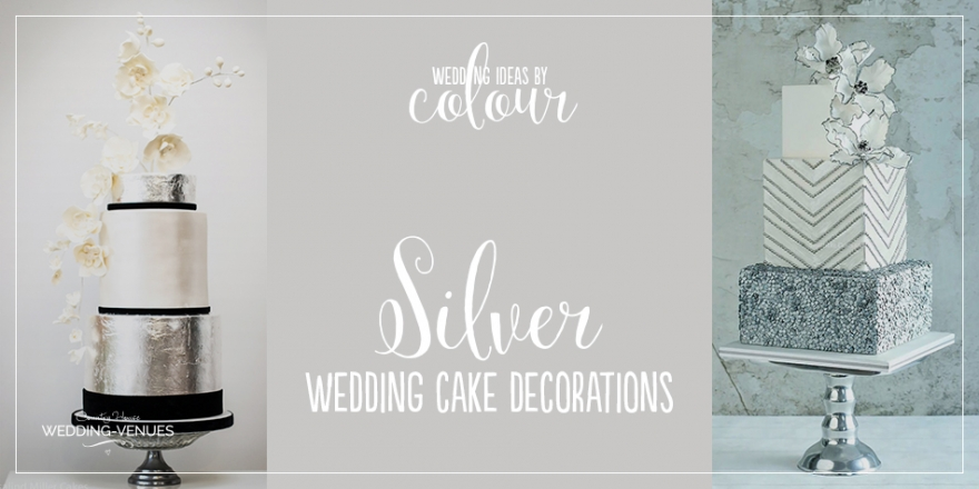 Wedding Ideas by Colour: Silver Wedding Cake Decorations | CHWV