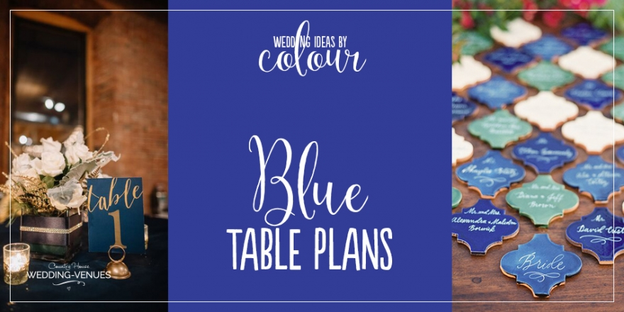 Wedding Ideas by Colour: Blue Table Plans
