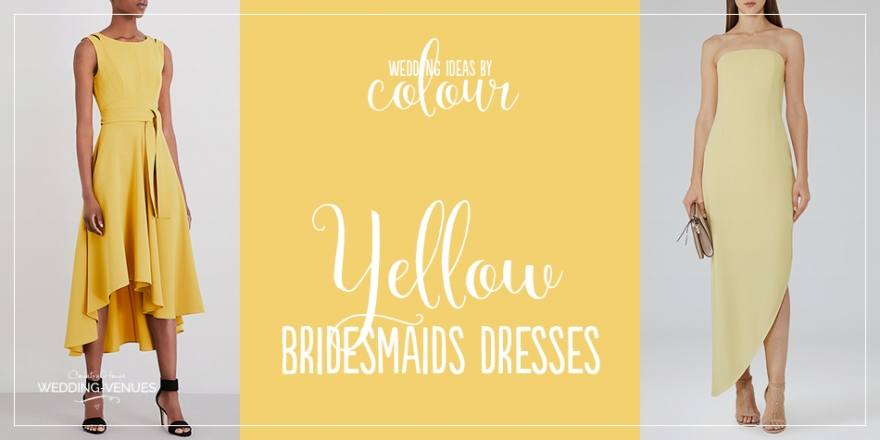 Wedding Ideas By Colour: Yellow Bridesmaid Dresses | CHWV