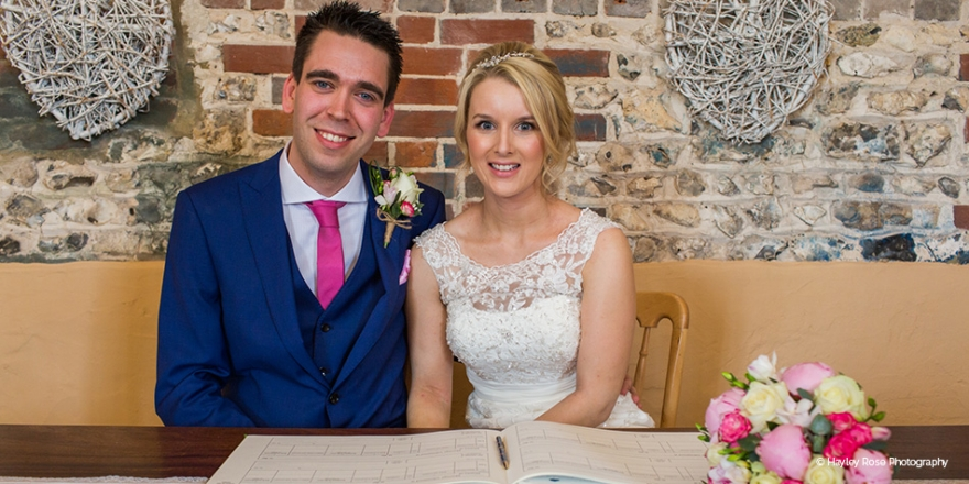 Real Wedding - Beth and James' Rustic Summer Wedding At Upwaltham Barns | CHWV