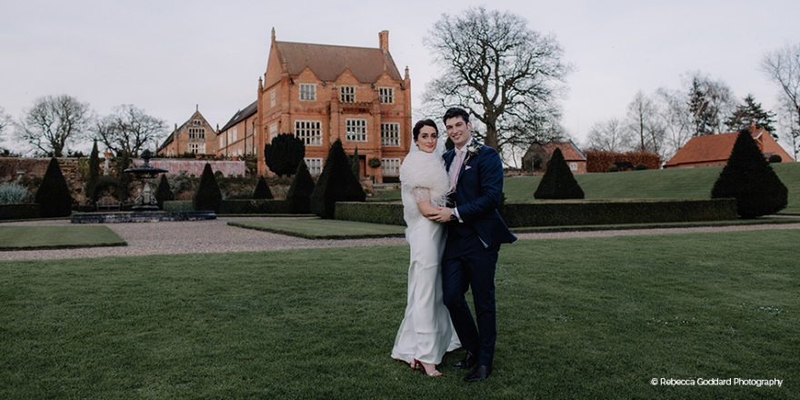 Real Wedding - Charlotte and Gareth's Romantic Winter Wedding at Oxnead Hall | CHWV