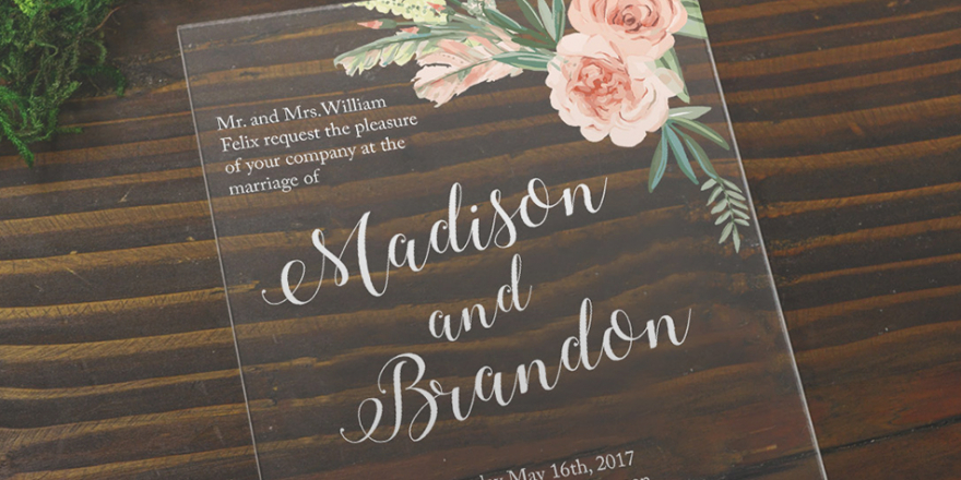 2020 Wedding Trends - Clear Wedding Invitations | CHWV