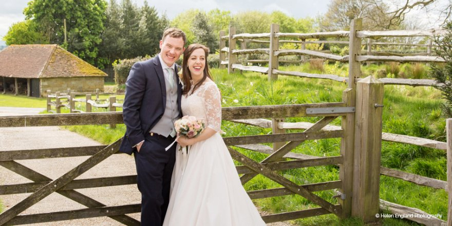 Real Wedding - Harriet and Jamie's Rustic Spring Wedding at Hendall Manor Barns | CHWV