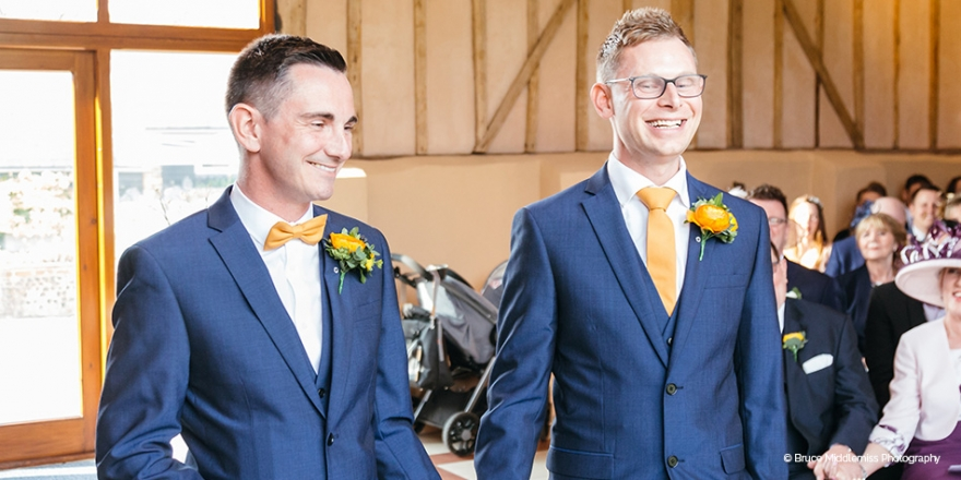 Real Wedding - Stuart and Ian's Spring Wedding at Upwaltham Barns | CHWV