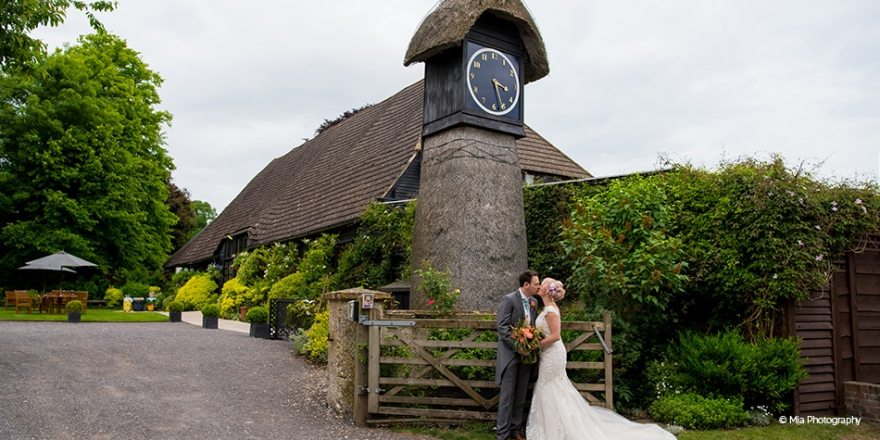 Real Wedding - Jade and James' Rustic Country Wedding At Clock Barn | CHWV