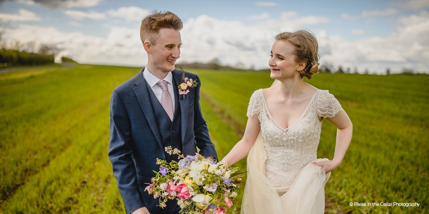 Real Wedding - An Eclectic and Personal Wedding at Mythe Barn | CHWV