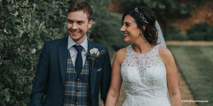Real Wedding - Rachelle and Adrian's Romantic Spring Wedding at Braxted Park