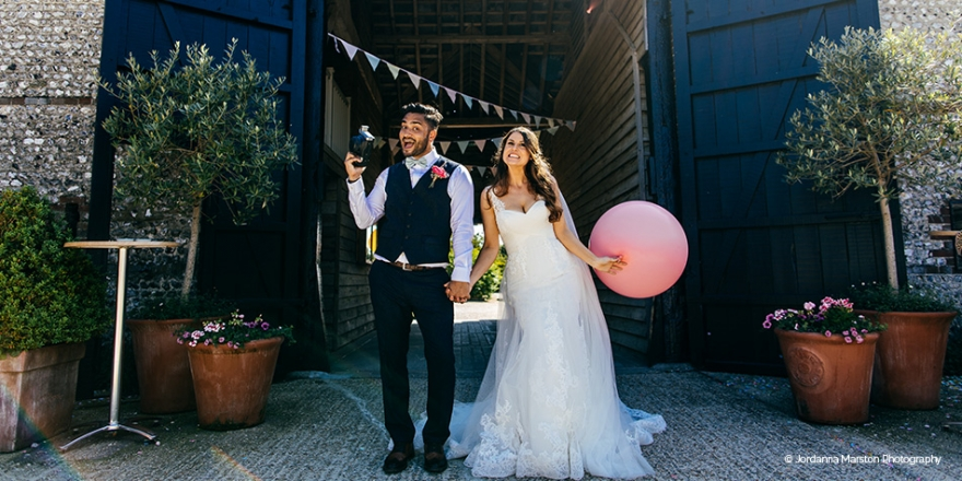Real Wedding - Love is in the Air at Upwaltham Barns | CHWV