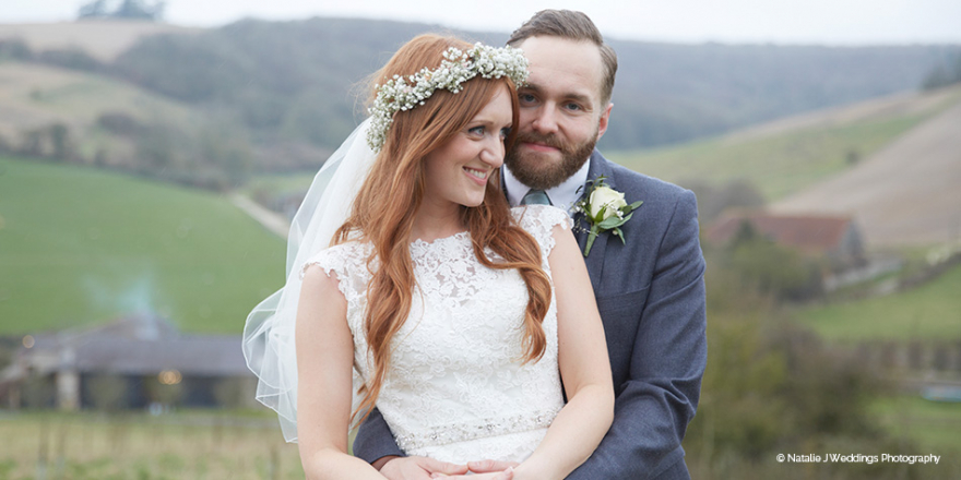 Real Wedding - Karis and Ed's Rustic Spring Wedding at Upwaltham Barns | CHWV