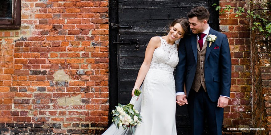 Real Wedding - Lindsay and Luke's Romantic Autumn Wedding at Clock Barn | CHWV