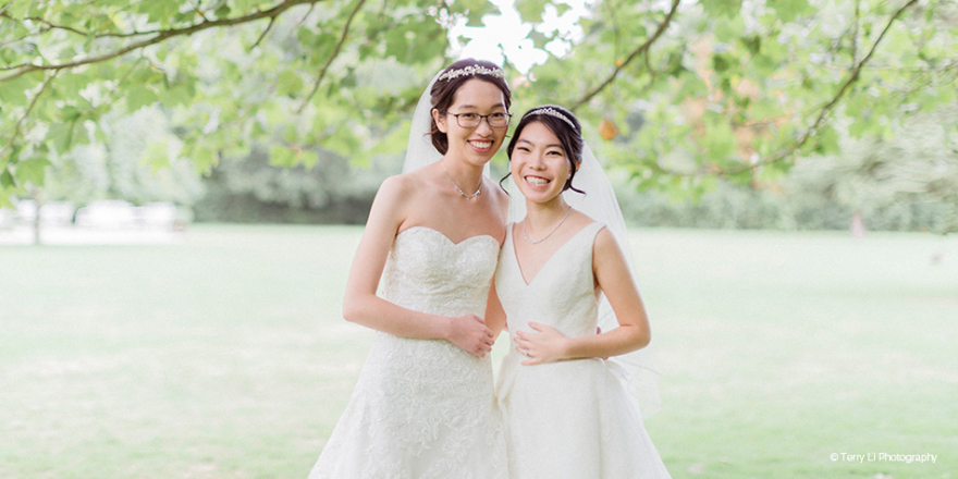 Real Wedding - Maggie and Deborah's Pretty Pastel Wedding At Morden Hall | CHWV
