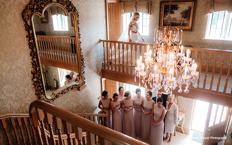 A bride and her bridesmaids at Merrydale Manor wedding venue in Cheshire | CHWV