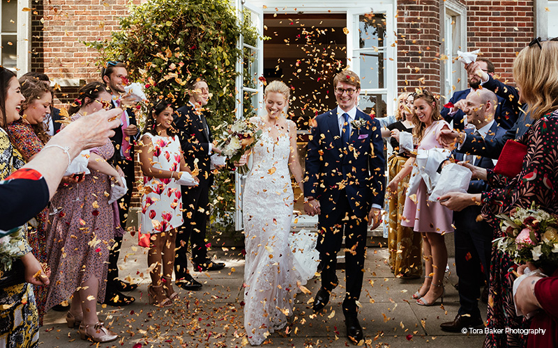 Confetti Shot at Pelham House | Wedding Venues East Sussex