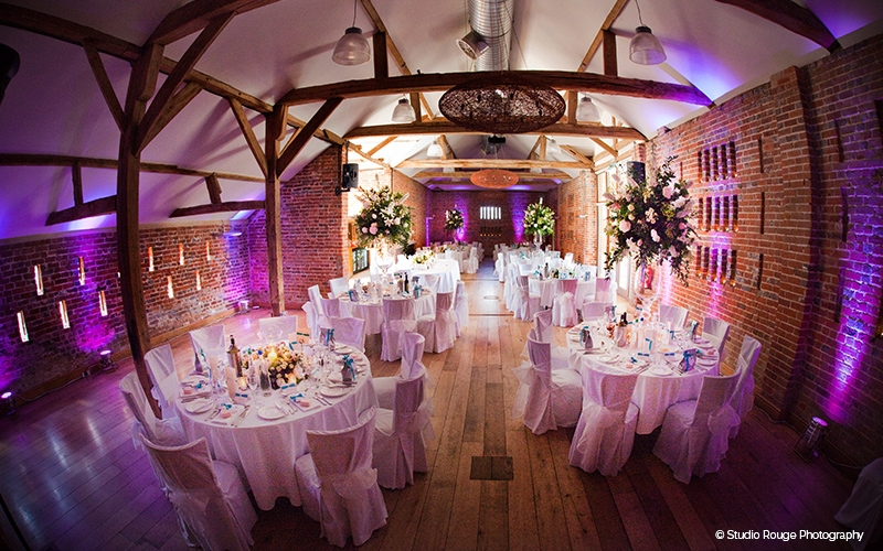 Barn wedding reception venue in Berkshire - Wasing Park