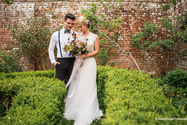 A couple taking a moment at Syrencot barn wedding venue in Wiltshire | CHWV