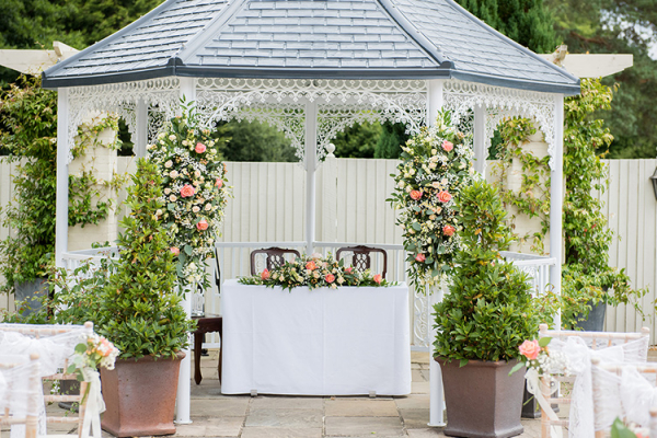 Gazebo Wedding at Southdowns Manor | West Sussex wedding venues