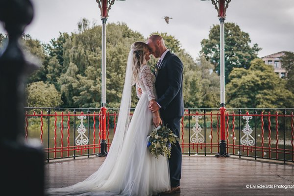 The bandstand by the river Dee at Old Palace Chester wedding venue in Cheshire | CHWV