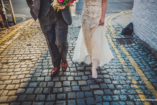 Cobbled streets near Old Palace Chester wedding venue in Cheshire | CHWV