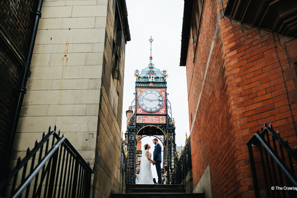 Clock Tower near Old Palace Chester wedding venue in Cheshire | CHWV