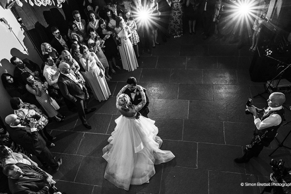 A romantic first dance at Blackwell Grange barn wedding venue in Warwickshire | CHWV