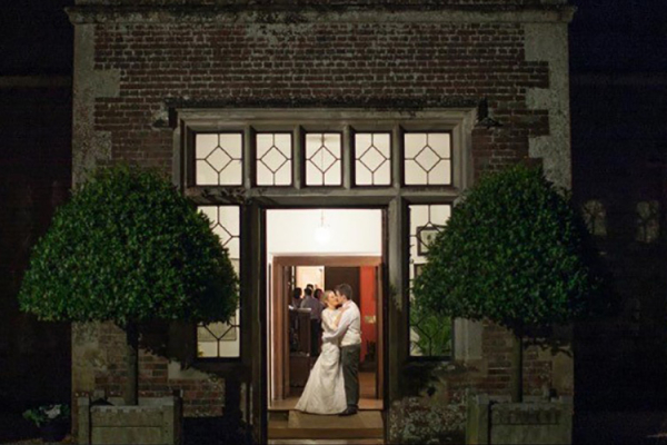 A happy couple at Breamore House in Hampshire