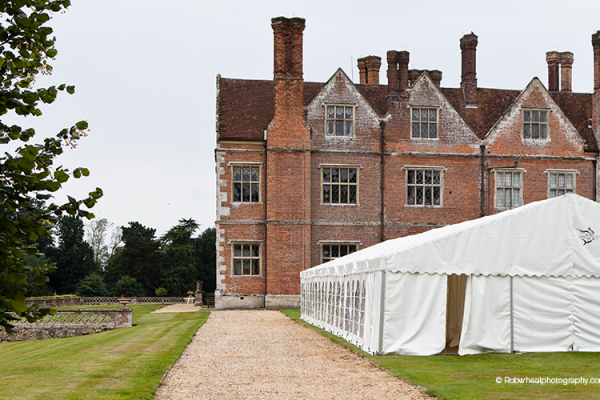 A marquee wedding reception at Breamore House - Country House Wedding Venue in Hampshire