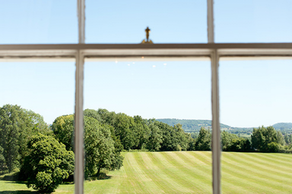 Wonderful views of the grounds from Burton Court