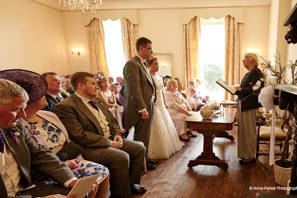 A ceremony at Burton Court wedding venue in Herefordshire | CHWV