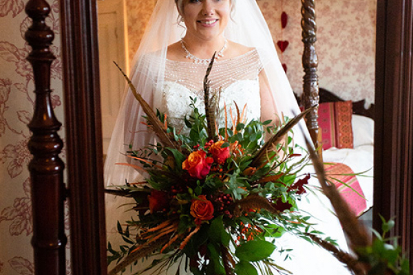 A bride getting ready at Burton Court wedding venue in Herefordshire | CHWV
