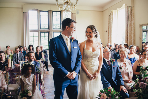 A ceremony in The Edwardian Room at Burton Court wedding venue in Herefordshire | CHWV