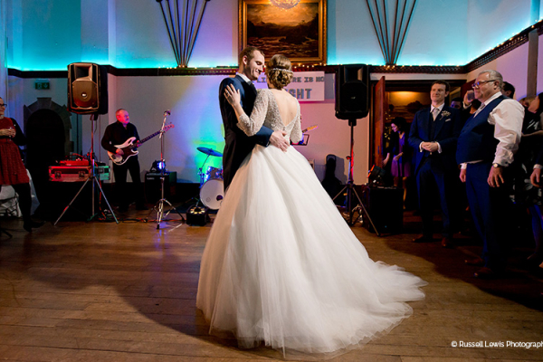 A romantic first dance at Burton Court wedding venue in Herefordshire | CHWV