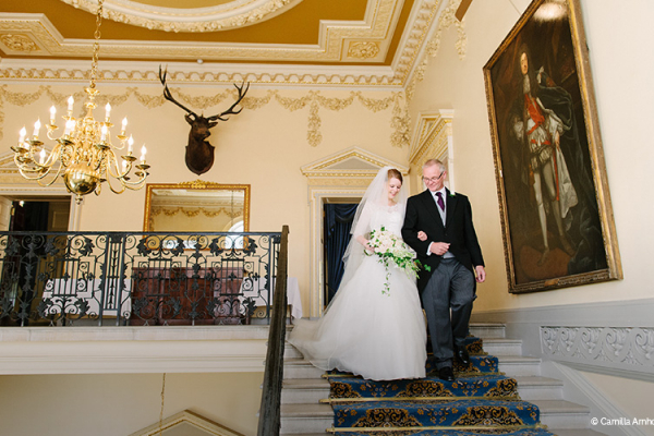 The grand staircase at Caledonian Club