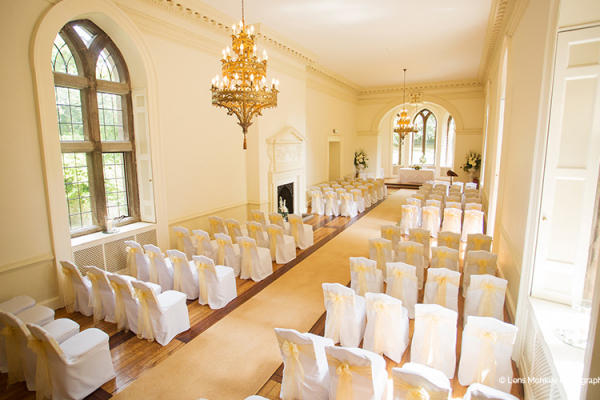 Set up for a wedding ceremony at Clearwell Castle wedding venue in Gloucestershire | CHWV