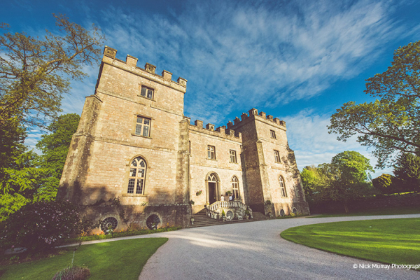 The front of the castle at Clearwell Castle wedding venue in Gloucestershire | CHWV