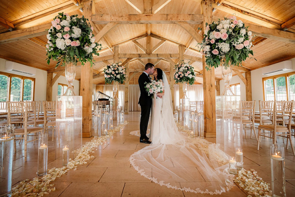 The ceremony barn at Colshaw Hall wedding venue in Cheshire | CHWV
