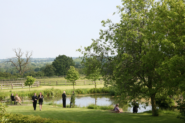 Guests enjoying the grounds and views at Crows Hall