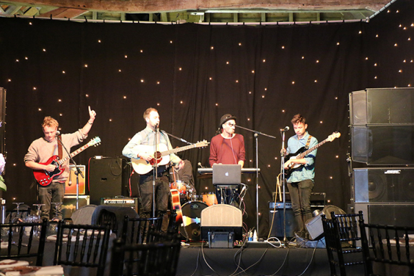 A wedding band at Crows Hall in Suffolk | CHWV