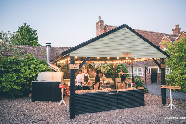 The Curradine Cantina for the evening at Curradine Barns wedding venue in Worcestershire | CHWV