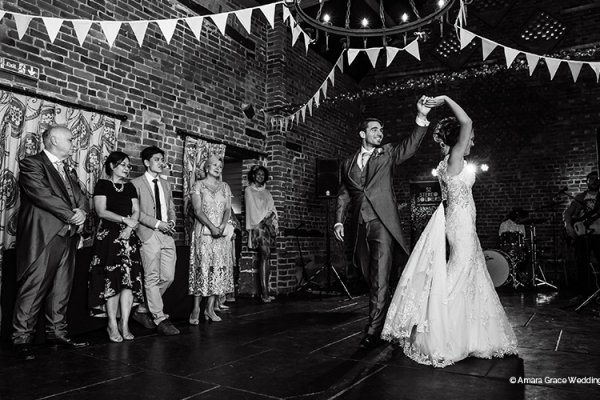 A romantic first dance at Curradine Barns wedding venue in Worcestershire | CHWV