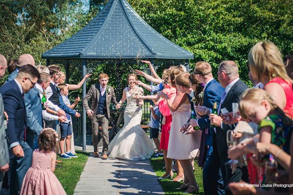 Confetti Shot at Curradine Barns | Wedding Venues Worcestershire