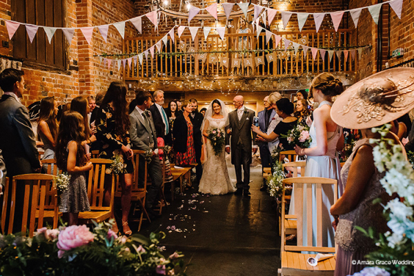 Just Married at Curradine Barns | Wedding Venues Worcestershire
