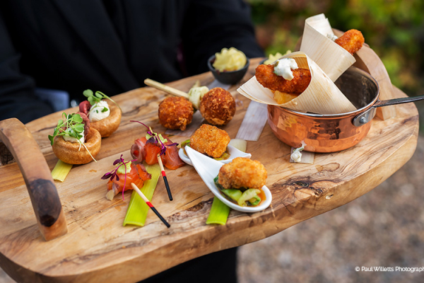 Drinks Reception Canapes at Curradine Barns | Wedding Venues Worcestershire